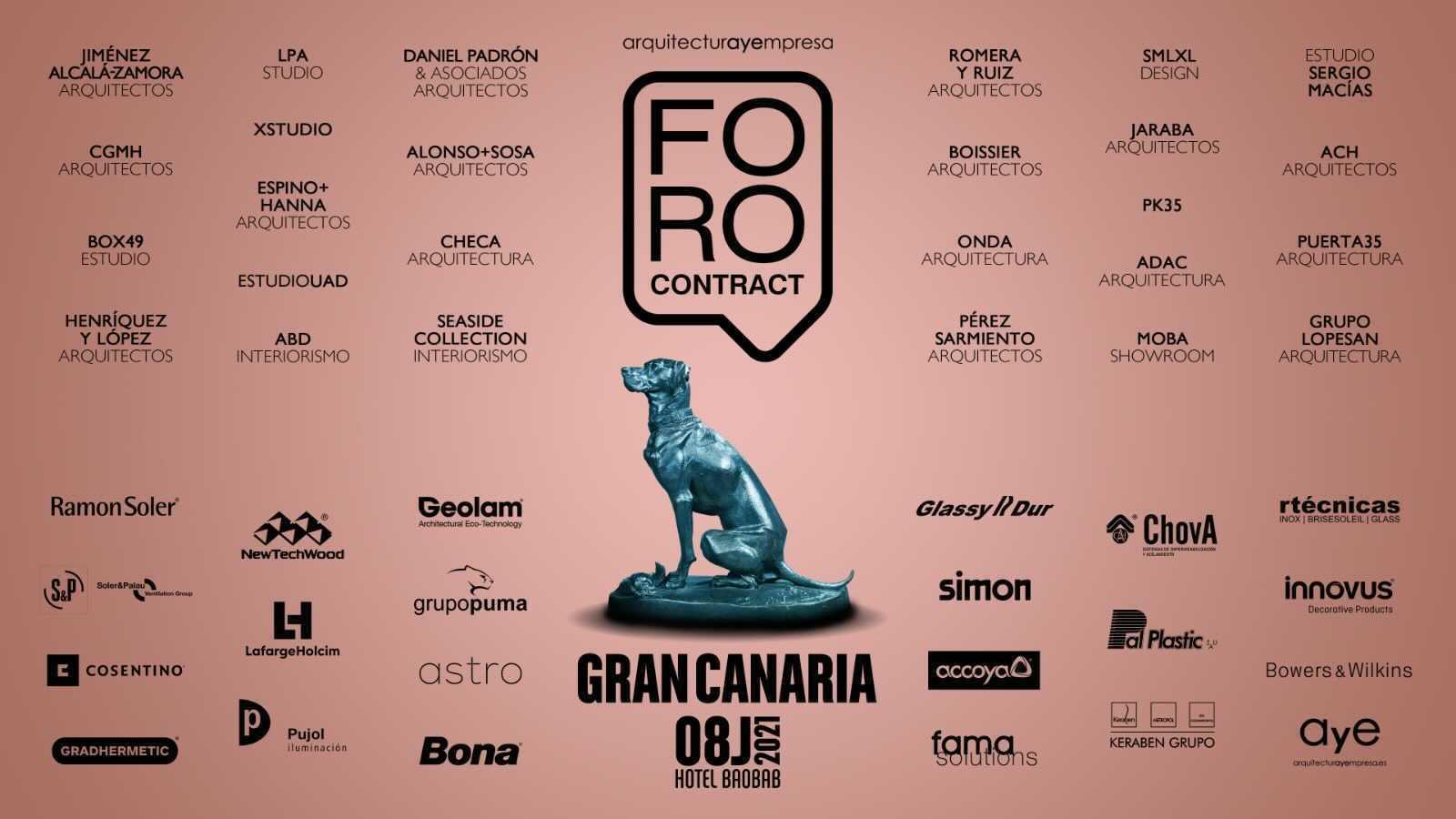 GlassyDur acudirá al FORO Contract en Gran Canaria